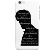 Demons run when a good man goes to war  iPhone Case/Skin