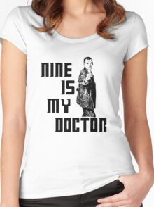 nine is my doctor Women's Fitted Scoop T-Shirt