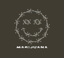Smile. Barbed Wire and Marijuana Leaves Unisex T-Shirt