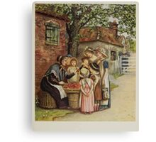 Kate Greenaway Collection 1905 0305 The Cherry Woman Canvas Print