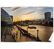 Tower Bridge Sunset in London Poster