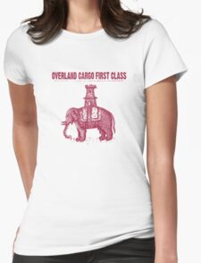Elephant Mail Womens Fitted T-Shirt