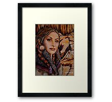 Sandstone ~ Wrapped in Tradition Series Framed Print
