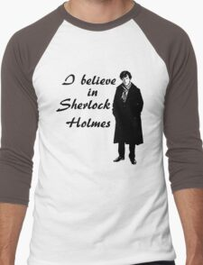 I believe in sherlock Holmes Men's Baseball ¾ T-Shirt