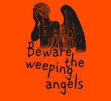 Beware the Weeping Angels  Kids Tee