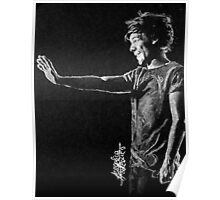Louis black and white Poster