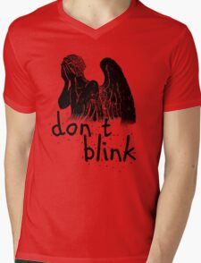 don't blink! Mens V-Neck T-Shirt