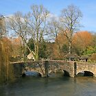 Bibury Bridge by RedHillDigital