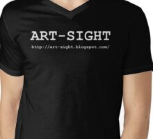 ART-SIGHT white Mens V-Neck T-Shirt