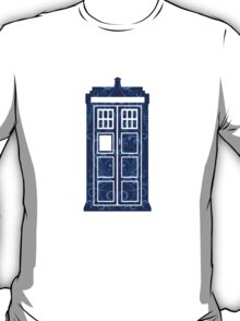 Blue Filigree TARDIS T-Shirt