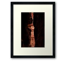 A Sliver of Petra Framed Print