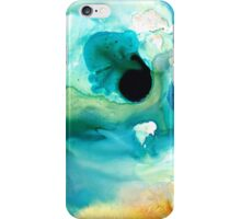 Peaceful Understanding - Green Abstract Art by Sharon Cummings iPhone Case/Skin