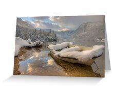 Snowy lake. Greeting Card
