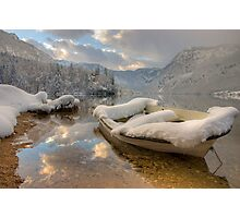 Snowy lake. Photographic Print