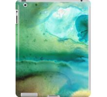 Peaceful Understanding - Green Abstract Art by Sharon Cummings iPad Case/Skin