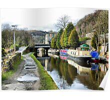 Rochdale Canal-Hebden Bridge . Poster
