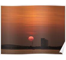 sunset in Abu Dhabi Poster