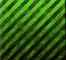 Lime Green And Black Grunge Striped Design by CiaoBellaLtd