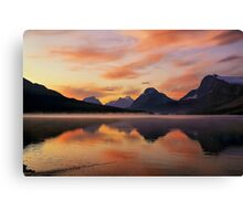 Sunrise at Bow Lake, Banff NP Canvas Print