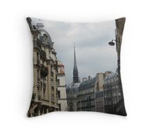 Paris Church steeple Throw Pillow