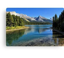 Maligne Lake, Jasper NP Canvas Print