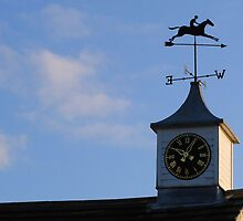 Clock and Weathervane by Carol Bleasdale