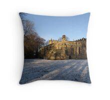 Church in the Snow Throw Pillow