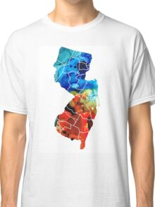 New Jersey - State Map By Sharon Cummings Classic T-Shirt