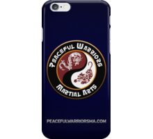 Peaceful Warriors Logo Blue Stripes iPhone Case/Skin