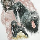 Portuguese Water Dog w/Ghost by BarbBarcikKeith
