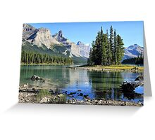 Spirit Island, Maligne Lake, Jasper NP Greeting Card