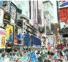 Times Square- New York by Kyleacharisse