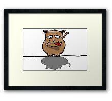 Grumpy Dog Framed Print