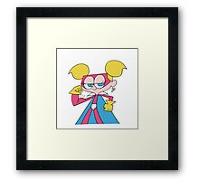 Super Diva Dynamite Flexing Framed Print