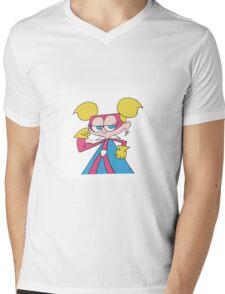 Super Diva Dynamite Flexing Mens V-Neck T-Shirt
