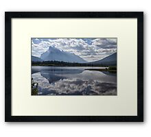 Mount Rundle & Vermillion Lake Framed Print