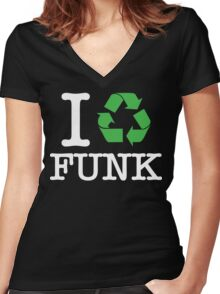 I Recycle Funk Women's Fitted V-Neck T-Shirt