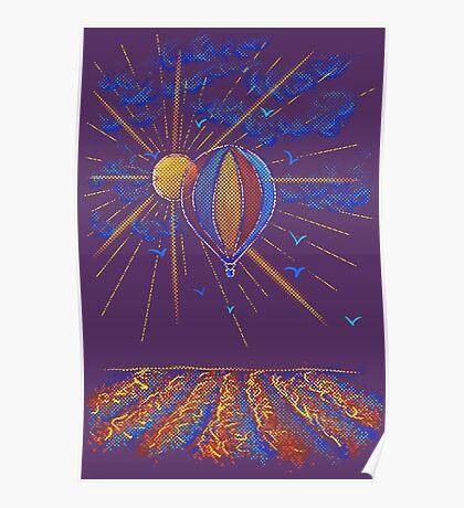Provence Balloning Poster