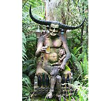 The horned man Photographic Print