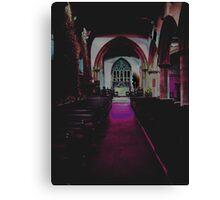 Abstract Church Canvas Print