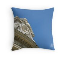 She Smiles from Lofty Heights Throw Pillow