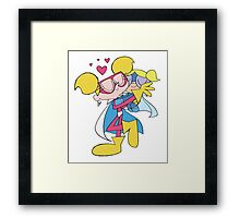 Diva Dynamite and Super Bubbles Framed Print