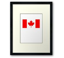 CANADA, Canadian Flag, Pure & Simple, National Flag of Canada, 'A Mari Usque Ad Mare' Framed Print