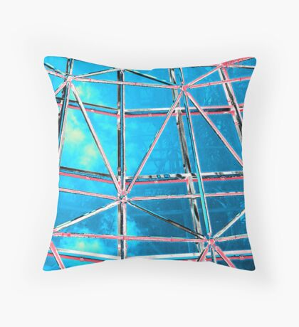 Shelter On A Blue Day Throw Pillow