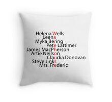 Warehouse 13 word art Throw Pillow