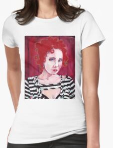 Anneke Portrait Art Womens Fitted T-Shirt