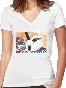 Felice the Californian Women's Fitted V-Neck T-Shirt