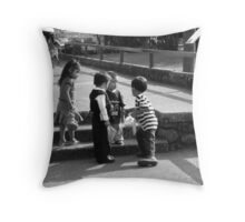 Kids Playing in Cuernavaca Mexico Throw Pillow