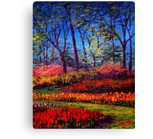 A Vibrant Day in Keukenhof Canvas Print