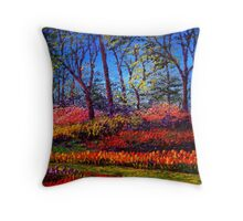 A Vibrant Day in Keukenhof Throw Pillow